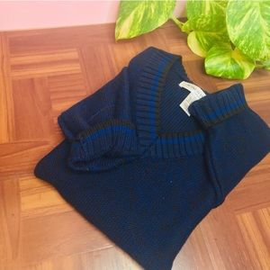 vtg vsco Navy Black boyfriend oversized sweater